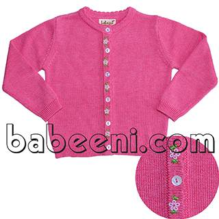 Adorable rose embroidered sweater for girl - BB510