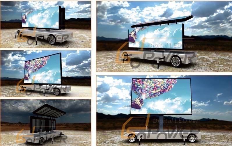 SoPower Digital Trailer LED Signs Mobile Folding Vehicle iTrailer12