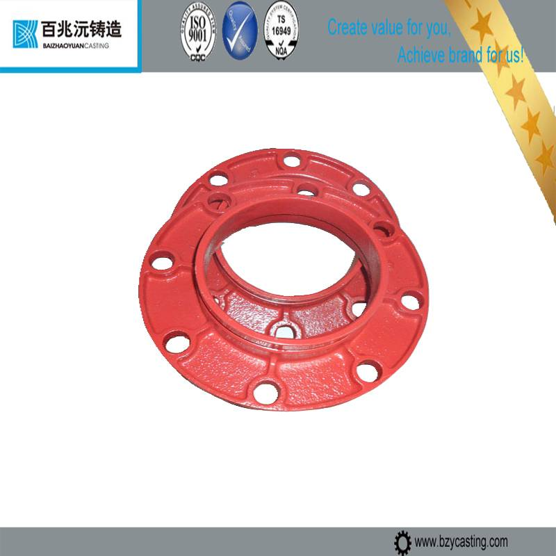 2014 ductile iron Grooved pipe fittings flange adaptor with UL/FM Painted and Epoxy