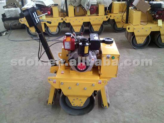 smooth wheel roller in machinery,reversible walking vibration driver road roller for sale,heavy mach