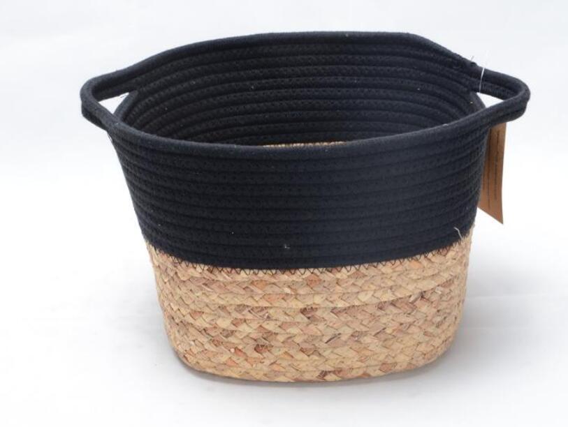 Handmade Round Cotton Rope Storage Basket for Organizing