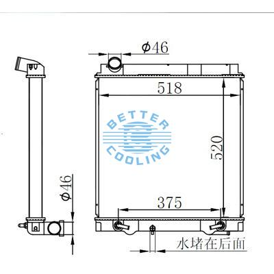 HIGH PERFORMANCE TRUCK RADIATOR FOR MITSUBISHI CANTER 5.2D 4M51 02- AT OEM: