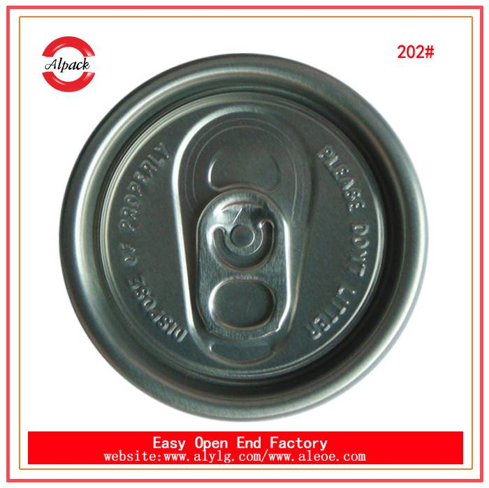202SOT beverage can cap easy open end
