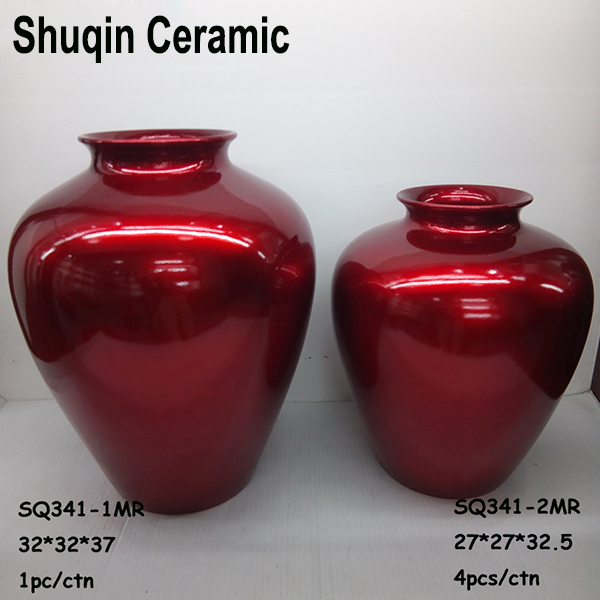 red flower vase indoor ceramic vase artificial flower vase