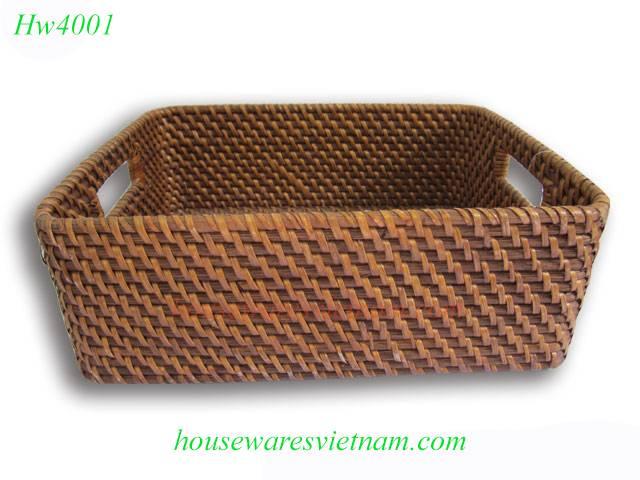Vietnam rattan basket, storage baset
