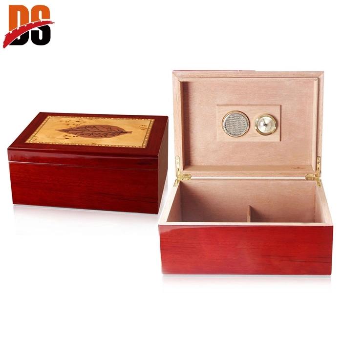 Custom Logo Printed Wooden Cigar Humidor Box Manufacturer For Sale