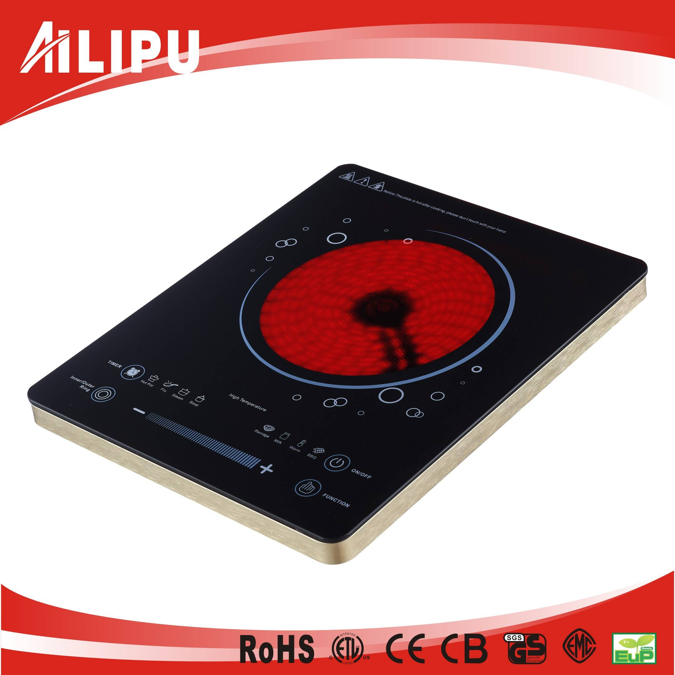Ultra-Thin Triple Ring Heating Function Hot Plate for Household Use