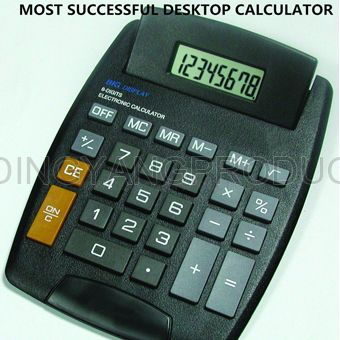 Big size desktop calculator with 8 digits display dual power cheap price for office promotional
