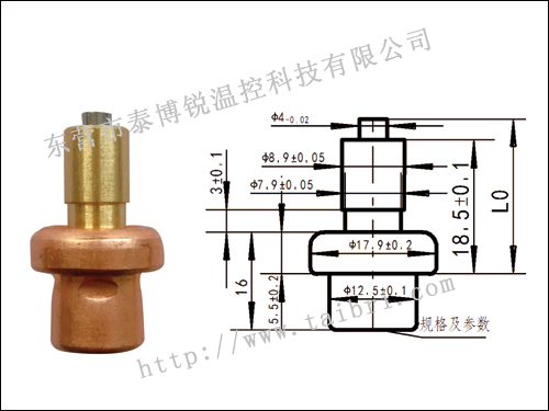 T2220 thermostat mixing valve element