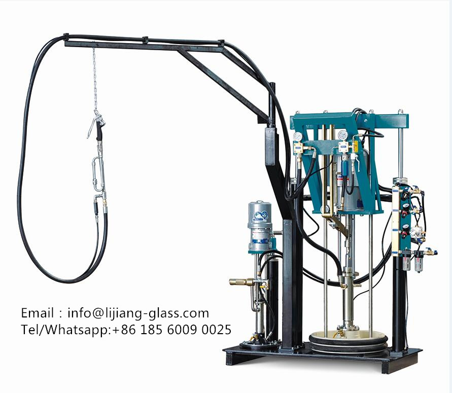 Two components sealant spreading machine for insulating glass machinery