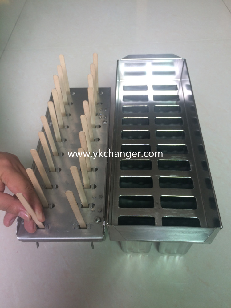 stainless steel ice pop molds tray popsicle mold set food grade including stick holder