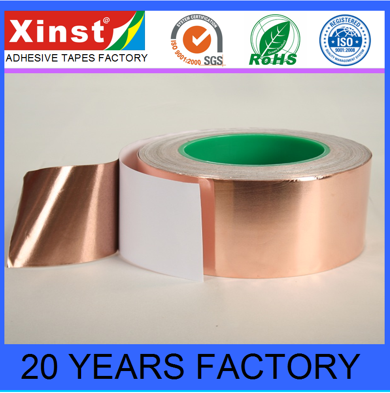 Double Sided Conductive Acrylic Adhesive Copper Foil Tape for EMI Shielding