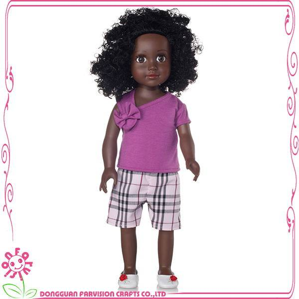 18 inch black Baby girl doll toys