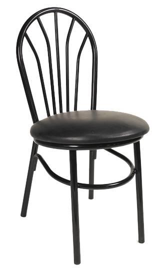fanback metal chair restaurant chair