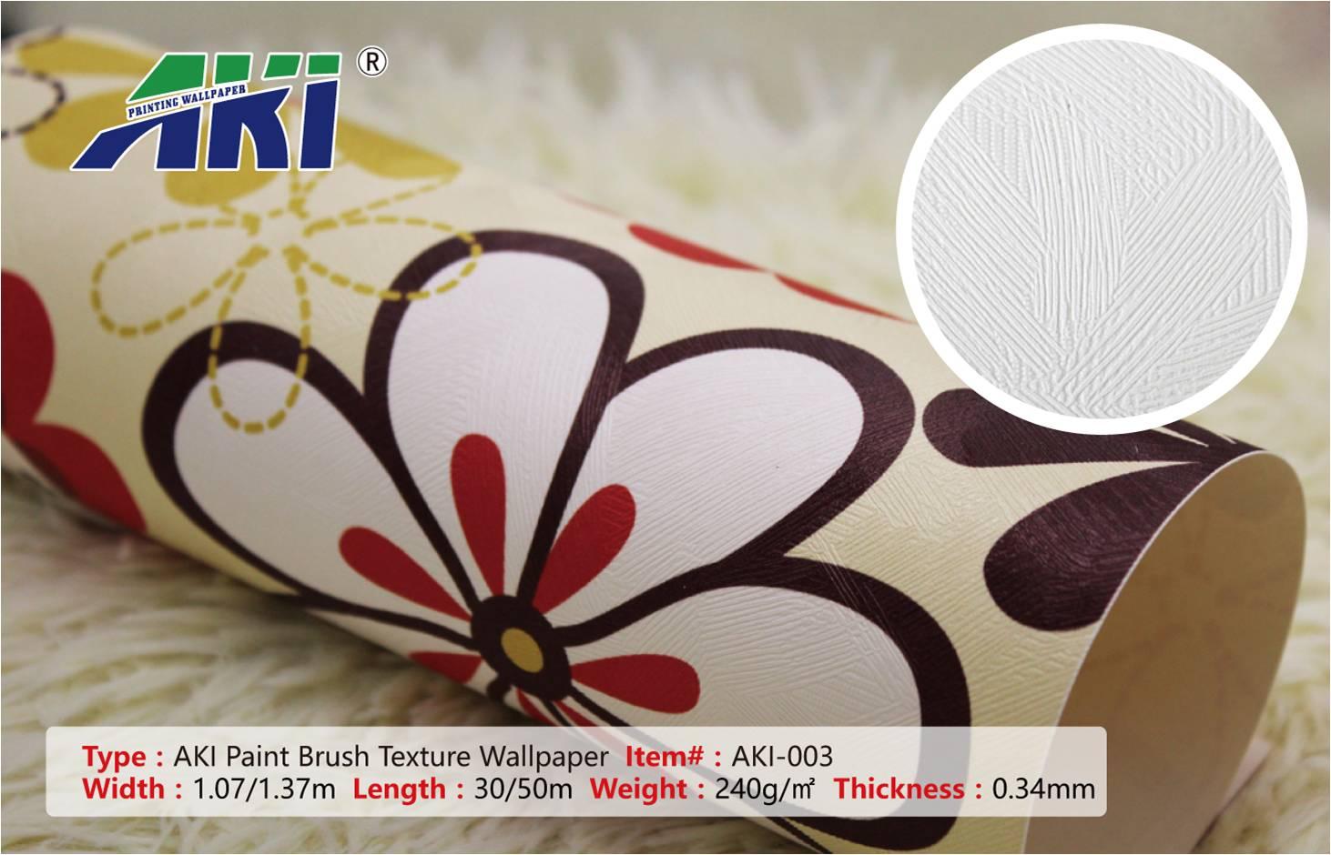 Digital Printing AKI 003 Paint Brush Texture Self-Adhesive Vinyl Printable Wallpaper