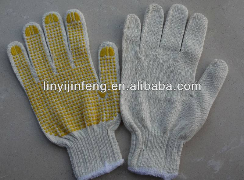 oil field working gloves pvc dotted winter fitter gloves