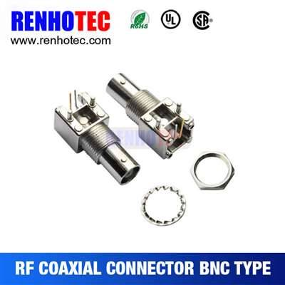 13.1mm Right Angle BNC Jack Connector For PCB Mount