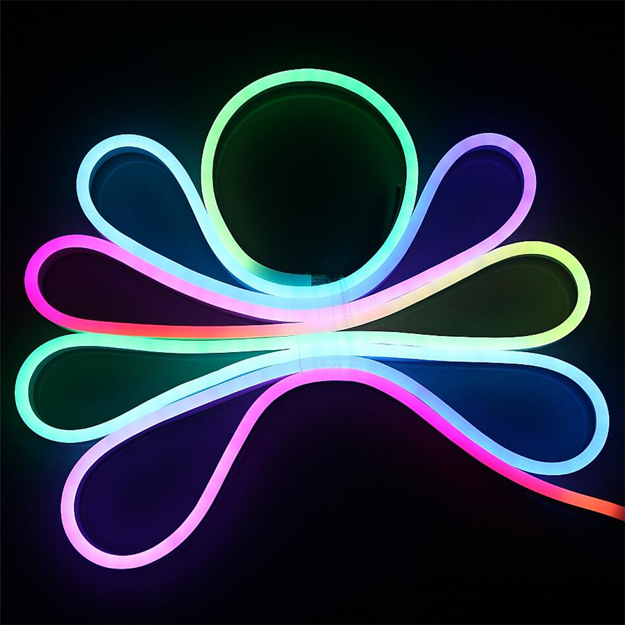 Bright illuminated signs wall art rgb carousel lights led neon flex string lights led module