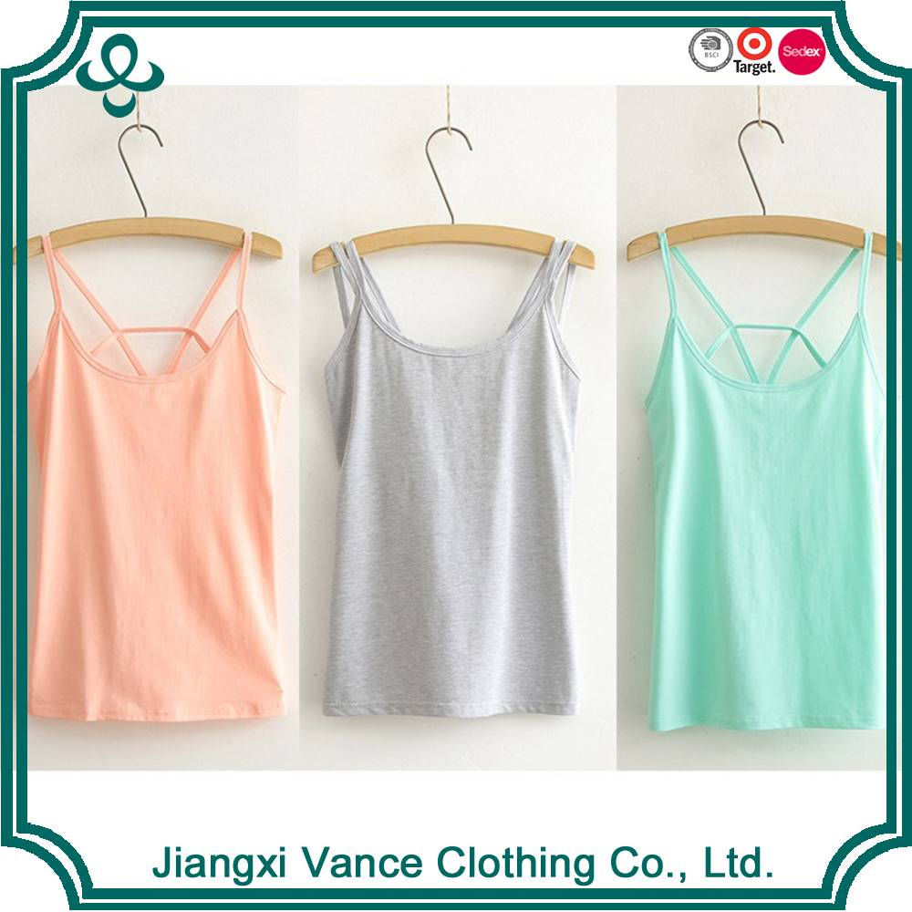 womens gym yoga cotton spandex tank tops