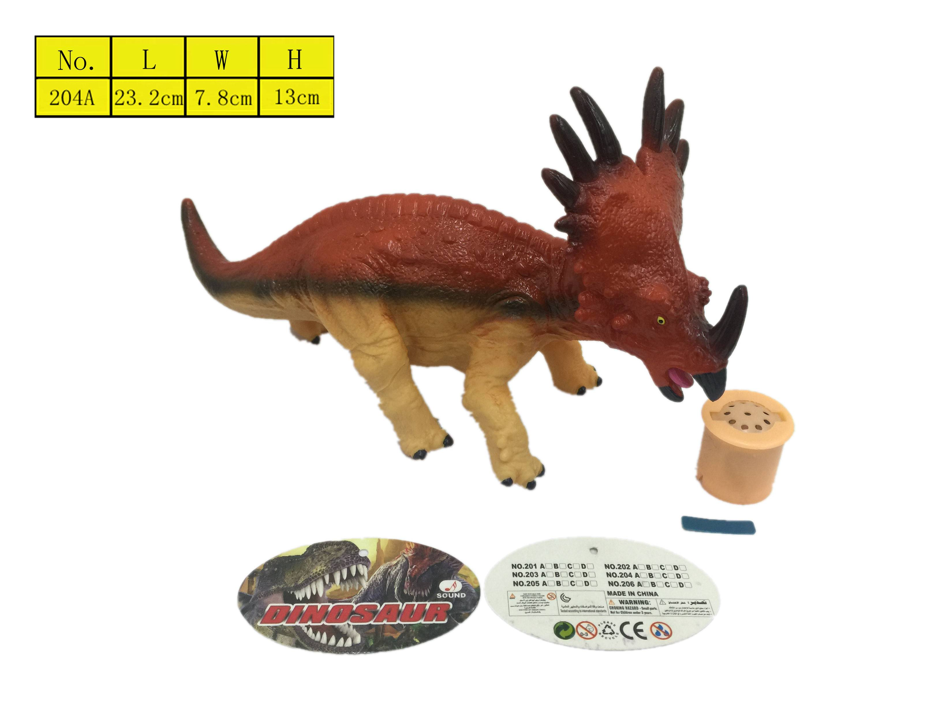 Vinyl plastic dinosaur toys for kids stuffed cotton with IC sound box EN71 2016 Top selling toys