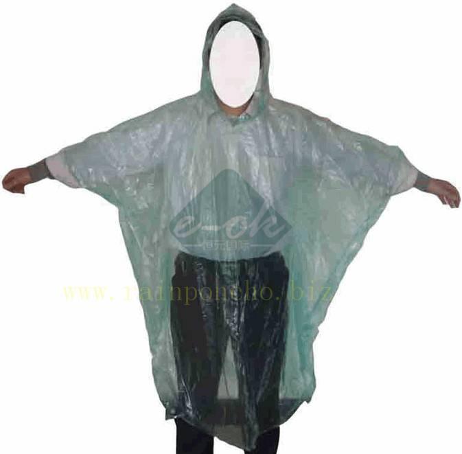Emergency Rain Ponchos/Disposable Rain Ponchos/PE Rain Ponchos