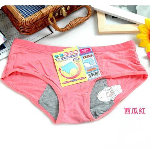 Modal physiological menstrual pants the night with no trace of leak-proof cotton underwear women sex