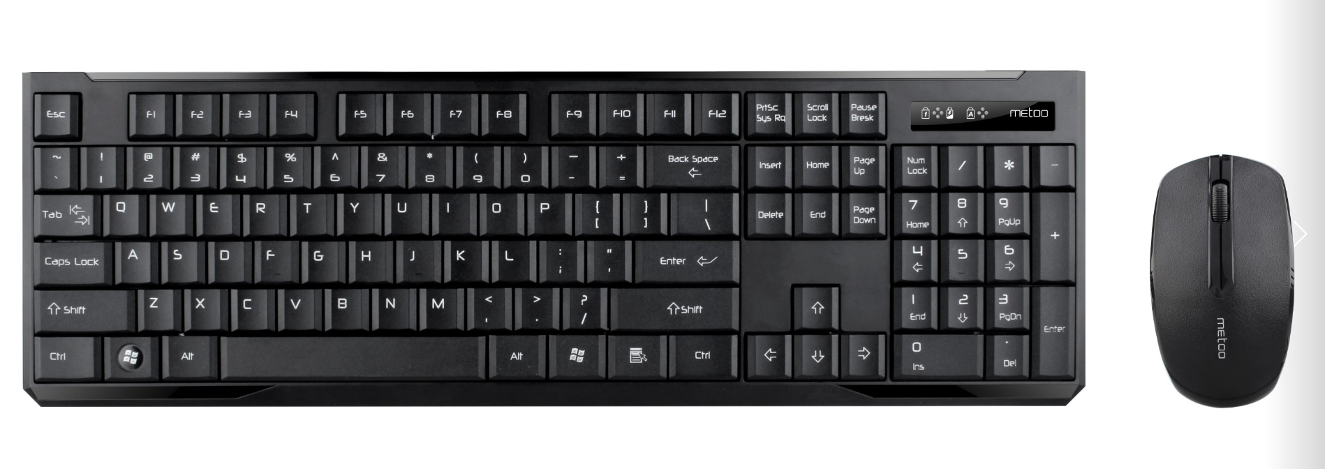 Metoo Wireless keyboard and mouse C60