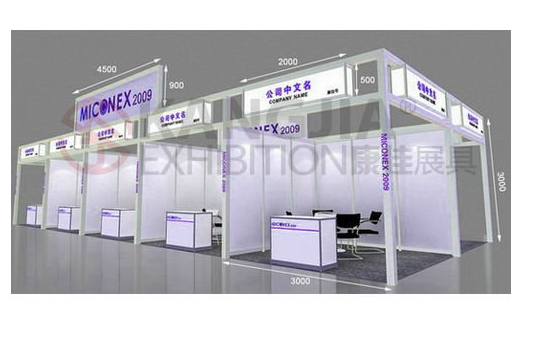 3m3m2.5m back to back modular and standard exhibition booth design for trade show