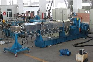 Twin screw extruder plastic pellet making machine for pp polypropylene