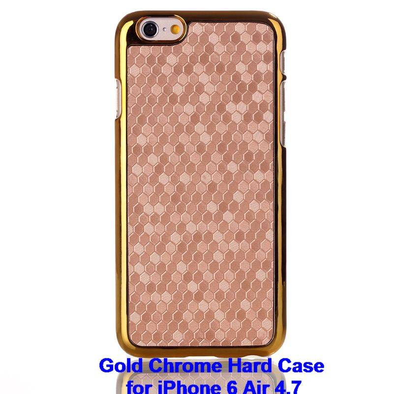 Deluxe Football Gold Chrome Plated Bling Hard Case Cover Shell for iPhone 6 6S 4.7 Plus 5.5 IP6C10