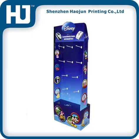 Dump Bins Paper display shelf withy plastic hooks