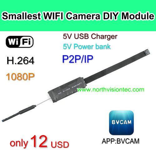 WI-V55, Cheap WIFI Camera DIY Module, 1080p,H.264,APP BVCAM, Good Price,Without battery