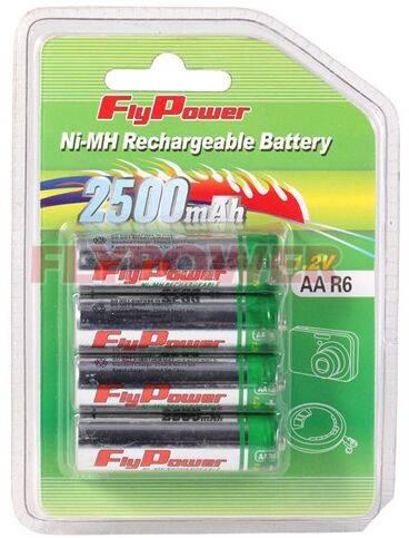 1.2V AA2500mAh Ni-MH rechargeable battery