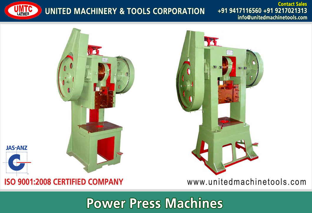 Power Presses Manufacturers Exporters in India Punjab Ludhiana