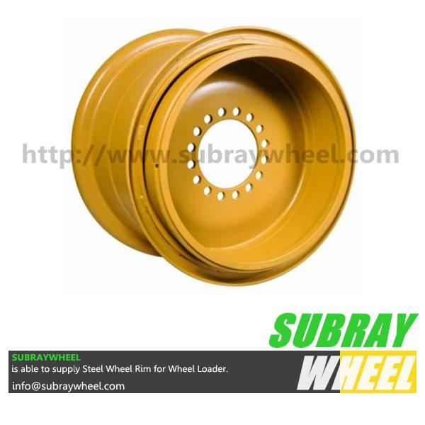 Heavy duty construction wheel rim