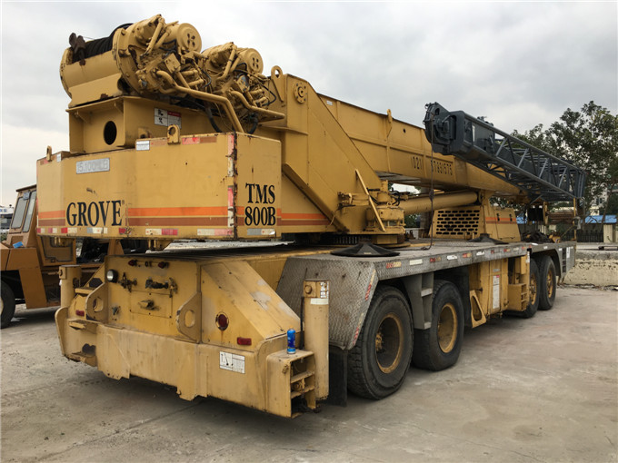 Good quality original from USA mobile crane GROVE 80 ton TMS-800B used truck crane for sale