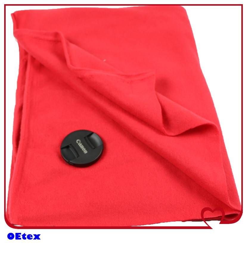 Polar fleece two sides brushed fabric