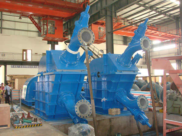 Pelton turbine(double nozzle)/hydro turbine/power plant