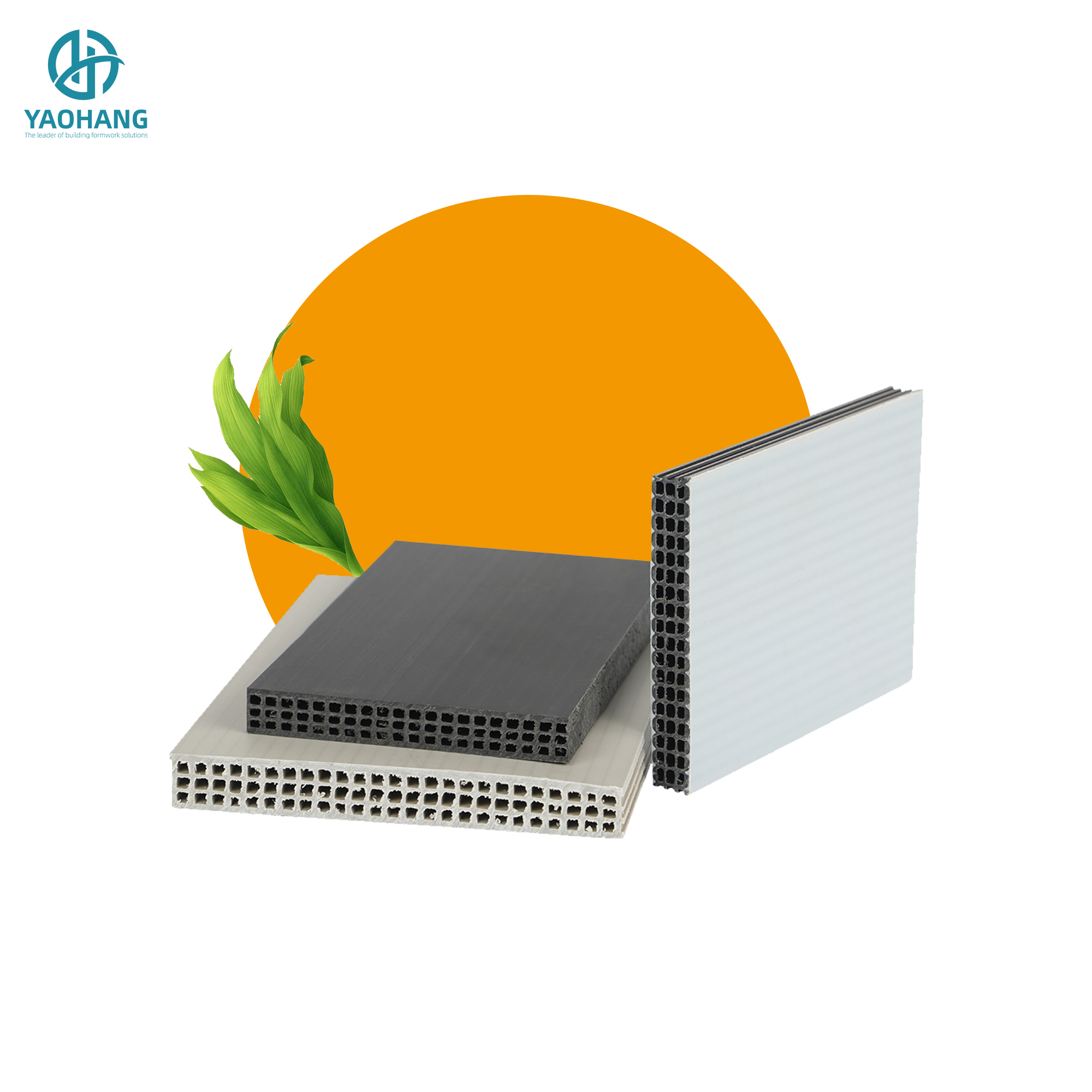 high quality hollow plastic concrete wall formwork board panel