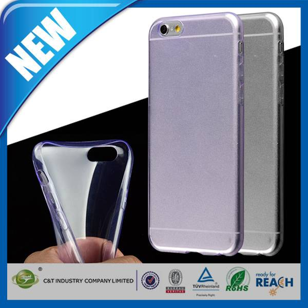 C&T New Design 0.3mm ultra thin soft clear tpu case for iphone 6