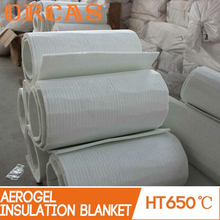 Non conductive heat resistant material aerogel insulation blanket
