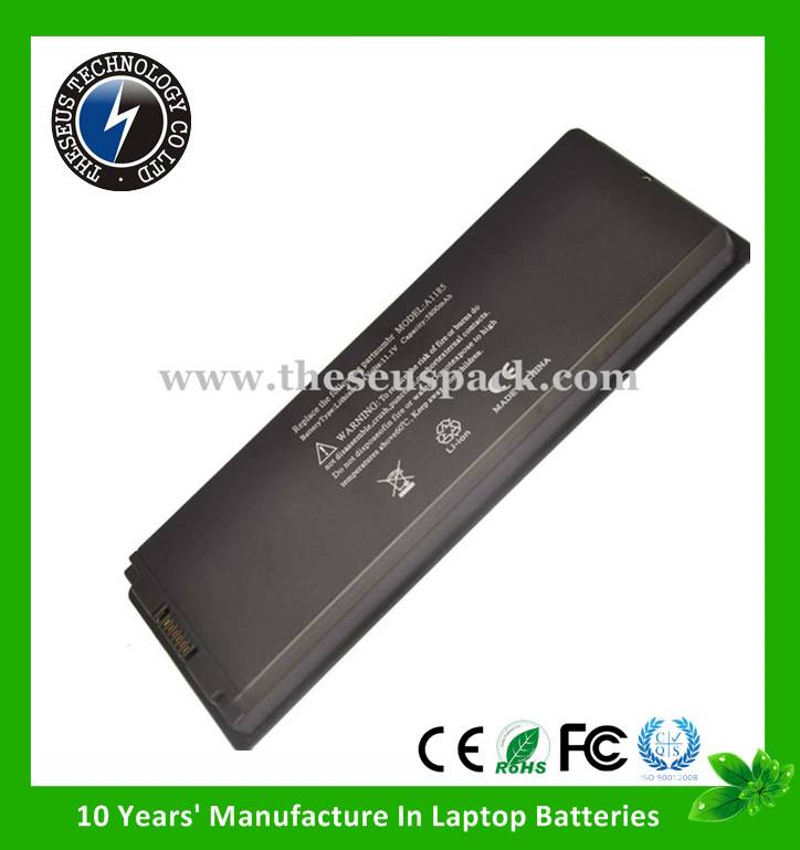 11.1V 6600MAH replacement laptop battery for Apple A1185