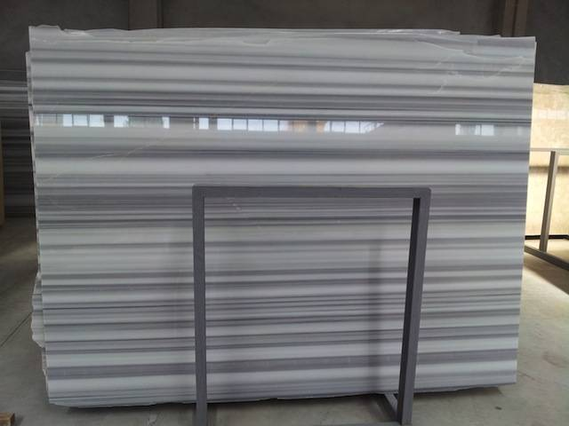 Natural straight white marble