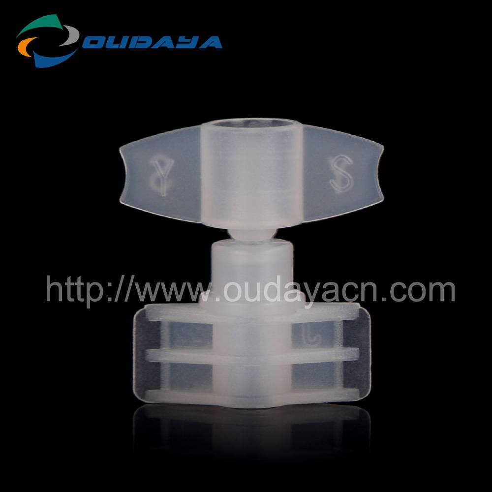 2mm cosmetic used spout with cap plastic made twist off cap