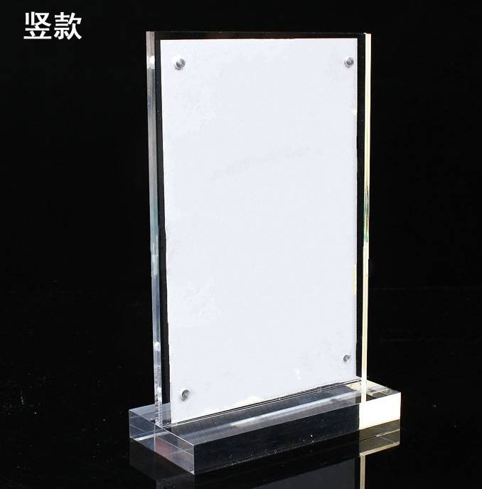 A4 acrylic clear advertising display stand