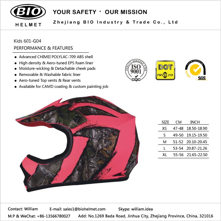 motorcross helmet DOT certificated