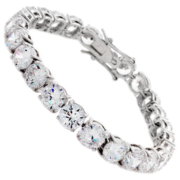 elegance & nobleness 316L stainless steel 8mm prong setting diamond tennis bracelet