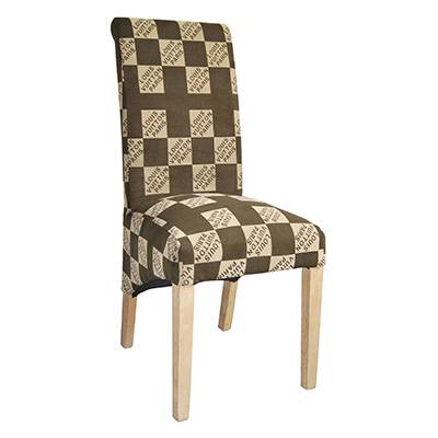 Fabric dining chair with wooden frame