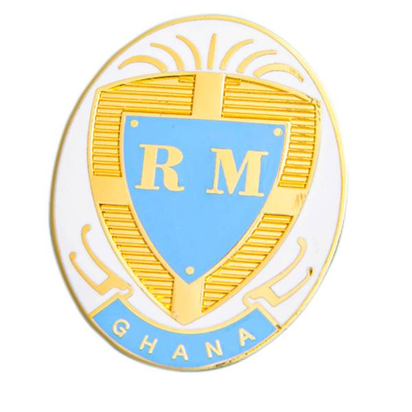 made in China, customized Ghana metal soft enamal badge