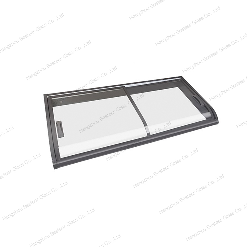 Curved Sliding Glass Door for Counter Top Freezer